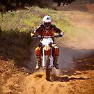 Motocross racer Ty Howard in Texas. by David Owens