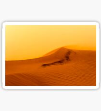 Red Desert Sand Dune.  Sticker