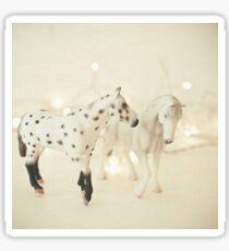 White Horses Sticker