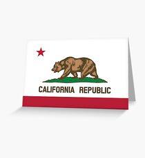 California Flag Greeting Card