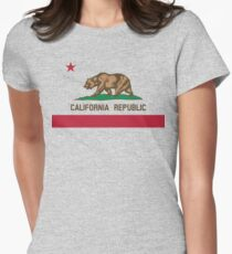 California Flag Womens Fitted T-Shirt