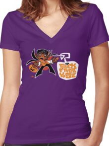 Trick O' Treat Yo Self Women's Fitted V-Neck T-Shirt