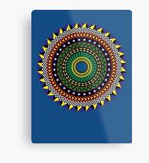 Trippy Mandala Metal Print