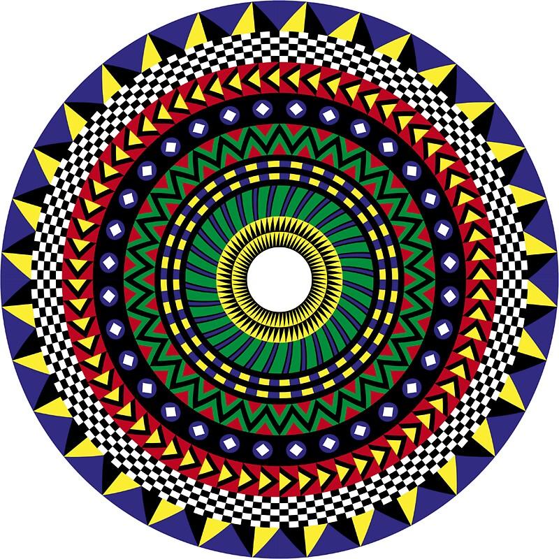 "Dukepope: ""Trippy Mandala"" Stickers By Dukepope"