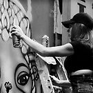 Artist Hosier Lane by Andrew  Makowiecki