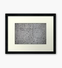 concrete wall    Framed Print
