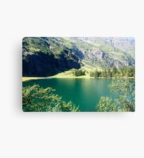 Austria, Tyrol, Hintersee Lake and Landscape Metal Print