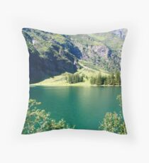 Austria, Tyrol, Hintersee Lake and Landscape Throw Pillow