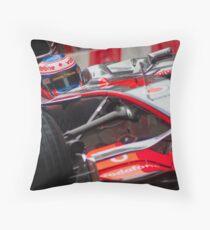 Jenson Button - Mclaren MP4-23 Throw Pillow