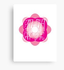 sweet flower pink graphic design Canvas Print