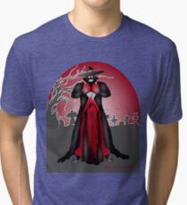 Dark Caped Mortuary Slasher T-shirt Tri-blend T-Shirt