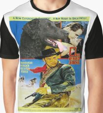 Curly Coated Retriever Art- One Eyed Jacks Movie Poster Graphic T-Shirt