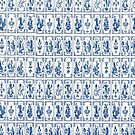 Delft blue flagstone by Happiness         Desiree