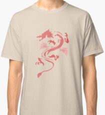 Fire Breathing Dragon - pink Classic T-Shirt