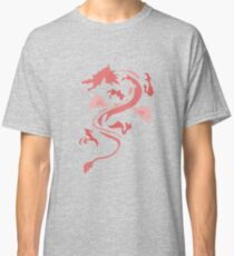 Fire Breathing Dragon - pink Classic T-Shirt