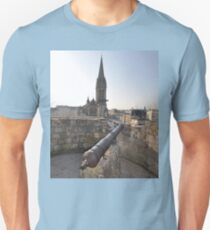 Cannon & Cathedral, Caen, France, Europe 2012 Unisex T-Shirt