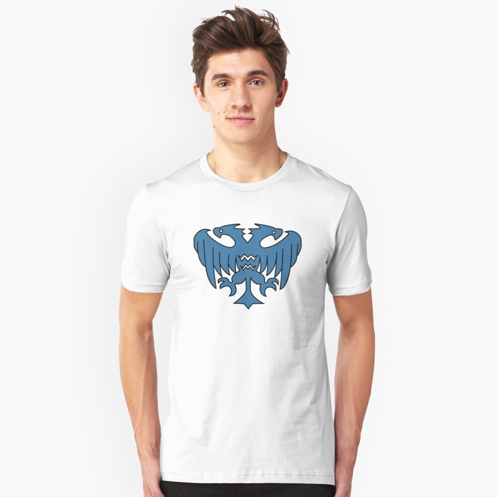 Rune-Midgarts Coat of Arms (blue version) Unisex T-Shirt Front