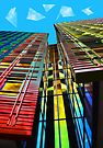 Colors in the City (with clouds) by Jasna
