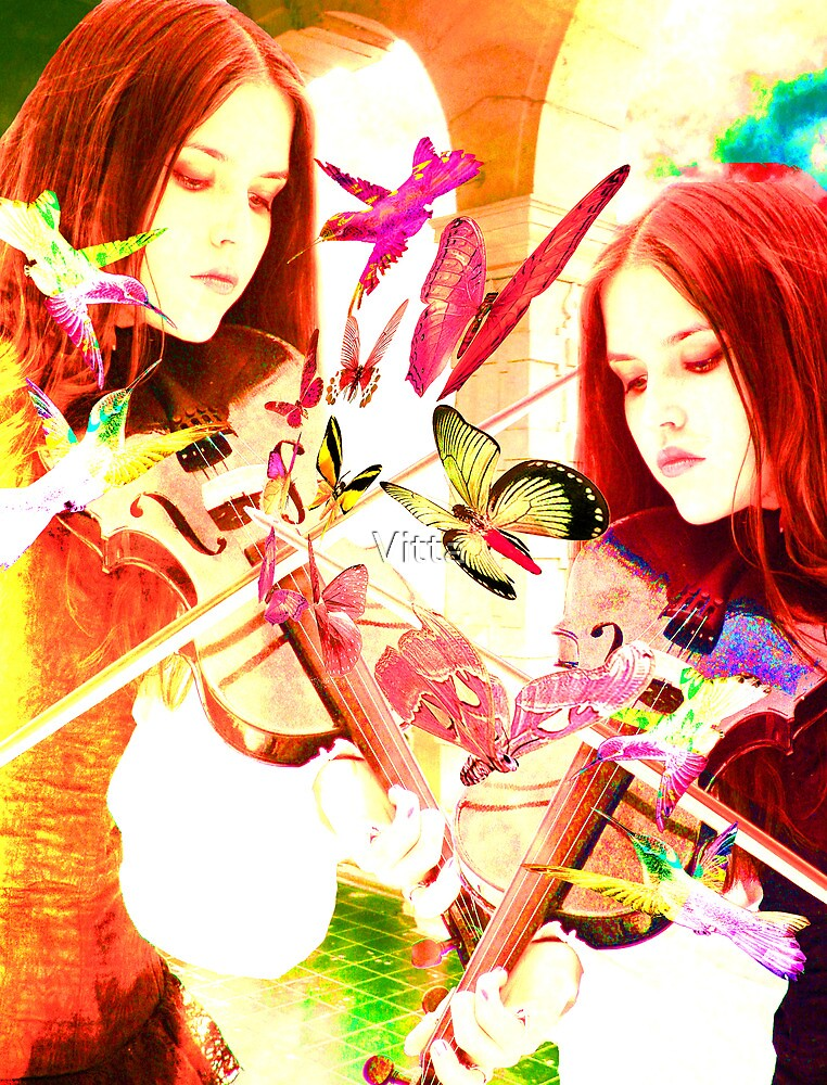 Violin. Collage. by Vitta