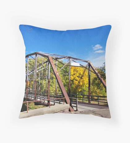 Cherry Rock Bridge Throw Pillow