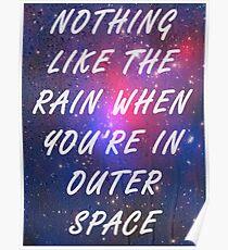 Weltraum / Weitermachen Poster