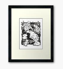 Cartoons Framed Print