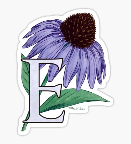 E is for Echinacea Sticker