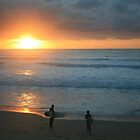 Cronulla Surfers at Sunrise by Kezzarama
