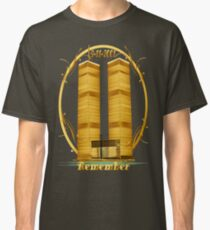 Gold Twin Towers lettered  Classic T-Shirt