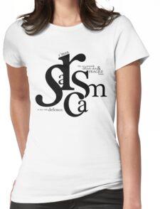 """Sarcasm is my only defense"" - Stiles Stilinski Womens Fitted T-Shirt"