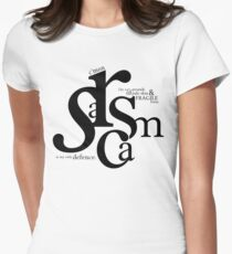 """Sarcasm is my only defense"" - Stiles Stilinski Womens Fitted T-Shirt"