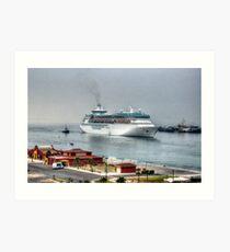Cruiseship in Ensenada, Mexico Art Print