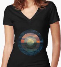 Ocular Oceans Women's Fitted V-Neck T-Shirt