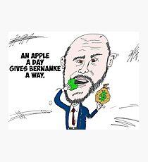 US Fed Chairman Ben Bernanke caricature Photographic Print