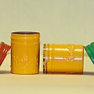 Kodak Yellow Film Cans by Robert Armendariz