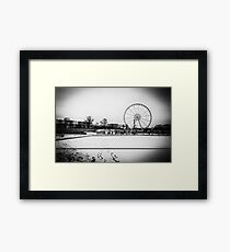Travel BW - Paris Winter Garden Framed Print