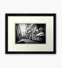 Graph Lane Framed Print