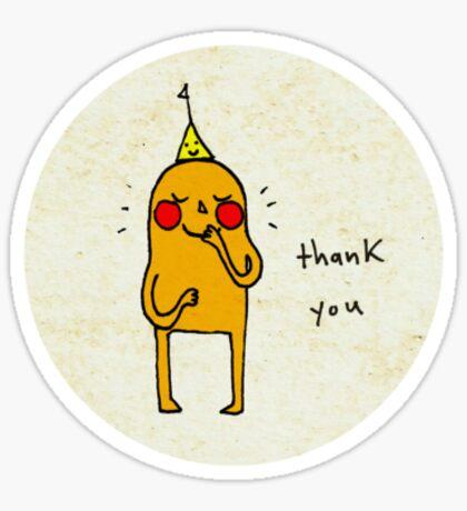 a shy thank you Sticker