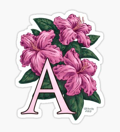 A is for Azalea Sticker