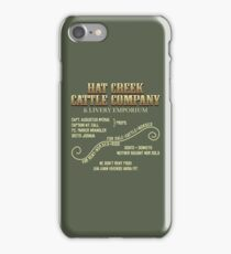 Hat Creek Cattle Company Sign iPhone Case/Skin