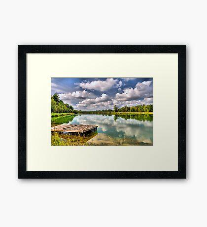 On Strickland Pond (HDR) Framed Print