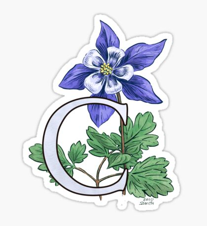 C is for Columbine - card Sticker