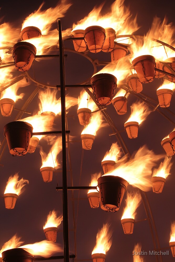 Flaming Pots by Justin Mitchell