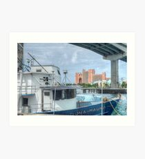 Atlantis view from Potter's Cay Art Print