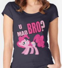 U MAD BRO? Women's Fitted Scoop T-Shirt