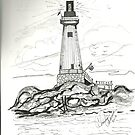 LIGHTHOUSE, A BEACON OF LIGHT by Charles Adams