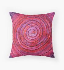 Sits in the Middle & Knows original painting Throw Pillow