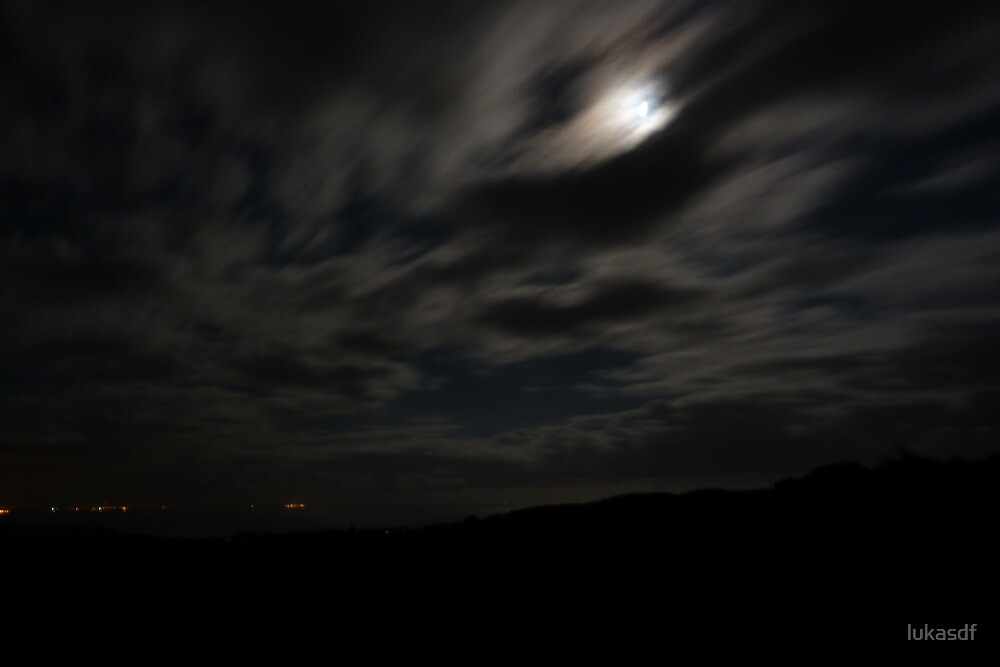 stormy night, south coast by lukasdf