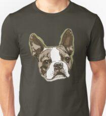 Boston Terrier Head Unisex T-Shirt