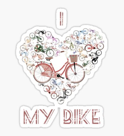 I Love My Bike Sticker